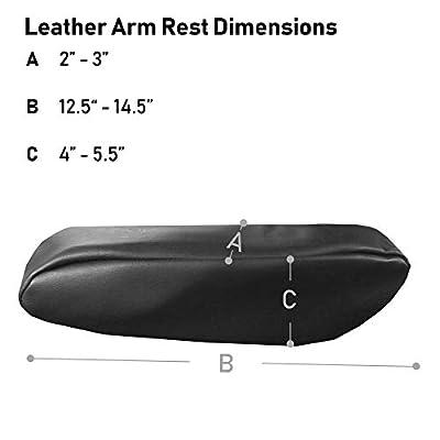 TLH PU Leather Armrest Cover, Black Color: Automotive