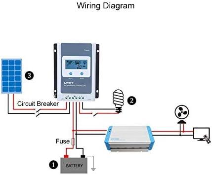 Ginyia Solarpan Regulator 12V / 24V Laderegler MT50 Display MPPT Tracer Sicherheit Li-Ionen Blei-Säure-Batterie(1210AN)