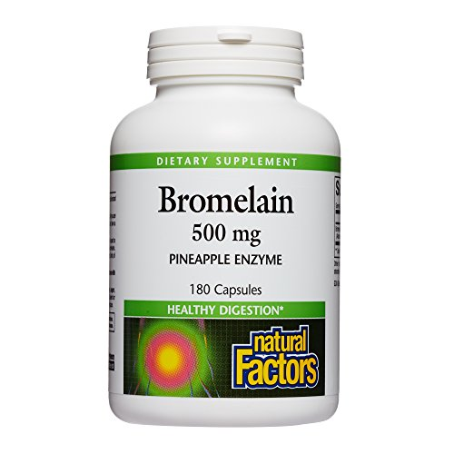 Natural Factors - Bromelain 500mg, Natural Support for Healthy Digestion, Proteolytic Enzymes from Pineapple, Non-GMO, 180 Capsules by Natural Factors (Image #4)