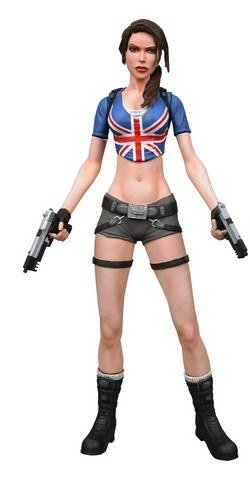 NECA Player Select Exclusive Series 1 Action Figure Lara Croft Union Jack ()
