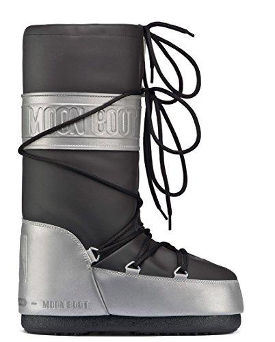 mujer negro Reflex para Moon invierno Botas de Boot gyYwC