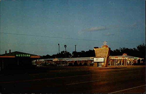 (Western Motel Elk City, Oklahoma Original Vintage Postcard)