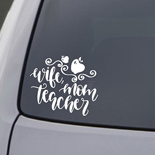 Mom Decal Sticker - Car Sticker Decal Window Teacher Wife Mom Truck Laptop Gift Vinyl 8