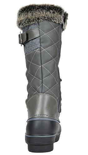 Lined Canada Snow Winter Women's ava Fur Boots Faux PAIRS Mid Grey DP Calf DREAM tCvYqw