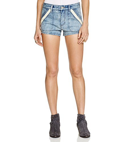 Free-People-Womens-Denim-Crochet-Seamed-Shorts-Blue-31