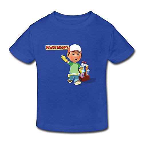 (Toddler's 100% Cotton Handy Manny Funny T-Shirt RoyalBlue US Size 5-6 Toddler )