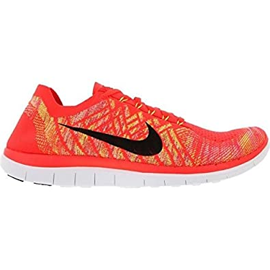 new product 4364b 0a49b NIKE Free 4.0 Flyknit Men's Running Shoes Red Size: 9 ...