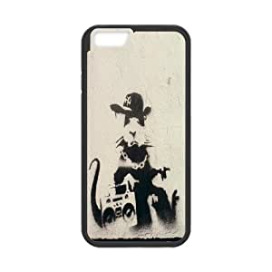 High Quality Phone Back Case Pattern Design 19Tourist Banksy Series- For Apple Iphone 6 Plus 5.5 inch screen Cases
