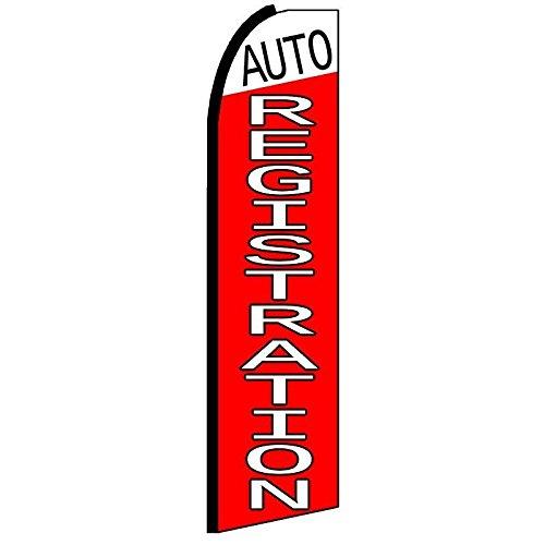 Nice Auto Registration Swooper Flutter Flag (3ft x 11.5ft) hot sale