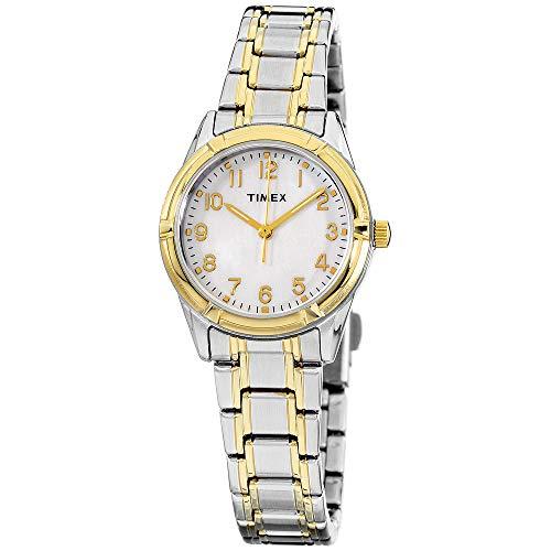 Timex Women's TW2P761009J Style Elevated Analog Display Quartz Two Tone Watch (Arabic Watch)