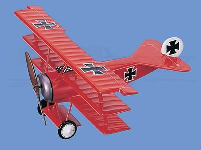 "Fokker   Dr 1 Tri-Plane of Ltn von Richtofen, ""Red Baron"" Aircraft Model Mahogany Display Model / Toy. Scale: 1/18"