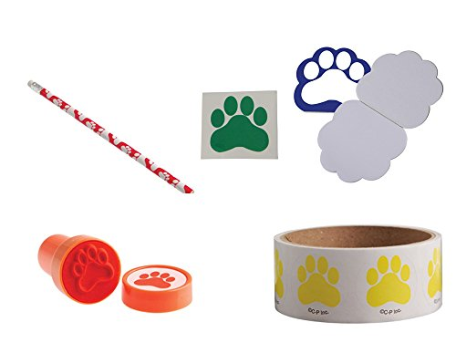 Paws Pawprint Toy Party Favor Supplies 280 Piece Set for 12 Bundle]()