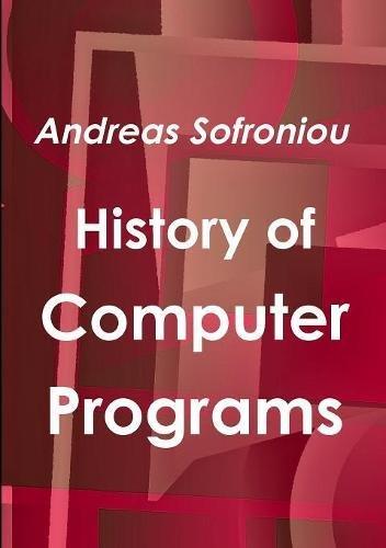Download History of Computer Programs ebook