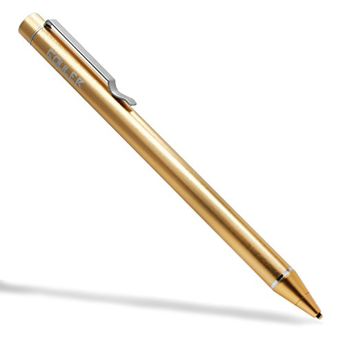 Gouler Active Stylus Digital Pen, High-precision 1.6mm Capacitive Pen with Copper Tip for iPad 1/2/3/mini/pro, iPhone X/ 8/ 8 Plus, Samsung Tablets and Other Capacitive Touch Screen Devices (Golden)