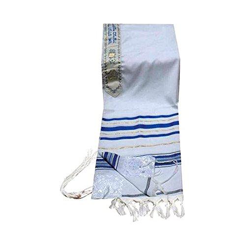 Israel Largest Size Prayer Shawls Blue & Silver - 68'X47'