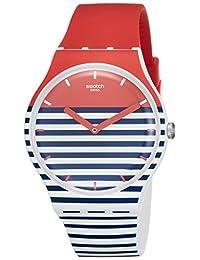 Swatch Maglietta SUOW140 Red Silicone Swiss Quartz Fashion Watch
