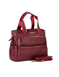 Bolso en color rojo pañalera bolso frontal detalles troquelados - Cloe