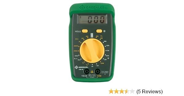 greenlee dm 40 manual ranging 600 volt multimeter checks ac dc rh amazon com Instruction Manual Book Owner's Manual