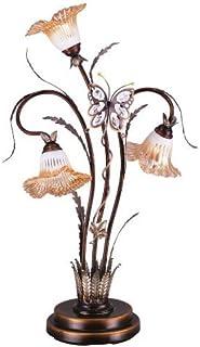 OK Lighting OK-9138T Flower Glass Shade Metal Table L& 38-Inch  sc 1 st  Amazon.com & OK Lighting OK-9138 Flower Glass Shade Metal Floor Lamp 70-Inch ... azcodes.com