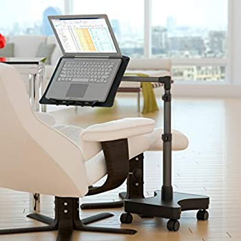 Amazon Com Levo Rolling Laptop Workstation Stand For