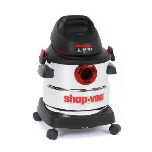 Shop-Vac 5989300 5 gallon 4.5 Peak HP Stainless Wet Dry Vacuum, Black