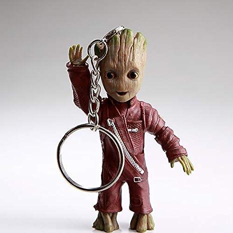 Action-Figur aus dem Filmklassiker I AM Groot Gelber Anzug thematys Baby Groot Schl/üsselanh/änger