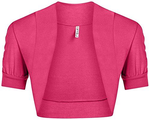 Pink Bolero - Fuchsia Bolero Shrug for Women Hot Pink Bolero Caridgan Ladies Regular and Plus Size Shrug Fuchsia Small