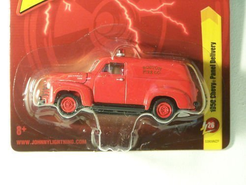 1950 Chevy Panel - 1950 Chevy Panel Delivery - Boston Fire Co. Red Diecast 1:64 Scale Car