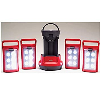 2 COLEMAN Rechargeable Camping Light LED Quad Lanterns w Handle 2000001150