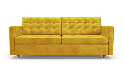 Amazon.com: Eliot Mid Century Modern Leather Sleeper Sofa - Brighton ...