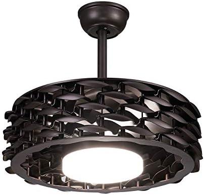 Aboyia - Moderno ventilador de techo invisible, lámpara de araña ...