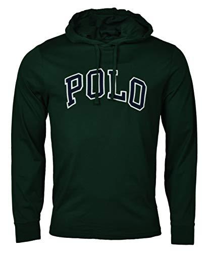Polo Ralph Lauren Mens Hooded T-Shirt (M, Green) (Ralph Lauren Tee)