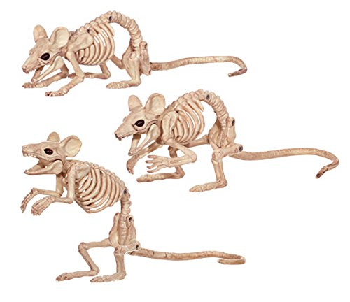 Crazy Bonez Creepy Skeleton Mice -