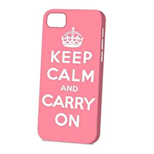 linJUN FENGCase Fun Apple ipod touch 5 Case - Vogue Version - 3D Full Wrap - Pink Keep Calm and Carry On