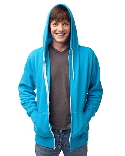 Slim Fit Lightweight Zip Up Hoodie for Men and Women M Turquoise