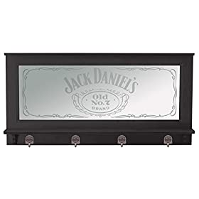 Jack Daniel's Pub Mirror w/Black Finish, Brown