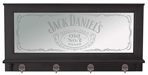 Pub Mirror (Jack Daniel's Pub Mirror w/Black Finish, Brown)