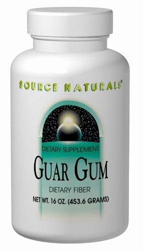 Source Naturals Guar Gum Powder Dietary Fiber, 16 Ounce (Pack of 2)