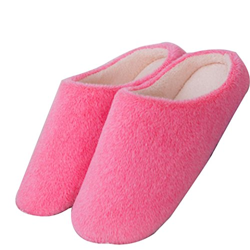 Amiley Womens Indoor Candy Colors Plush Cotton Scuffs Slippers Anti-slip Shoes Pink IviS2tc7