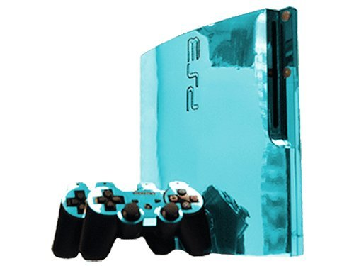 Sony PlayStation 3 Slim Skin (PS3 Slim) - NEW - SKY CHROME MIRROR system skins faceplate decal mod