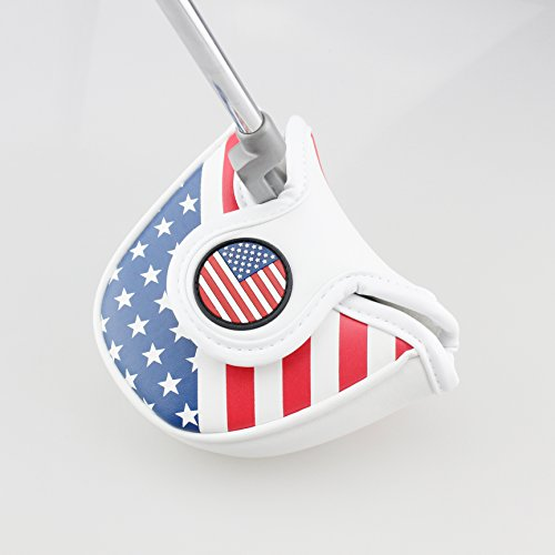 Crestgolf Golf USA AMERICA MALLET Putter Cover Headcover For Odyssey with Smart Design and Perfect (Logo Mallet Golf Putter)