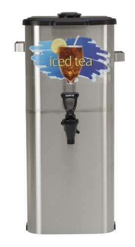 "Wilbur Curtis Iced Tea Dispenser 4.0 Gallon Tea Dispenser, Oval 21""H - Designed to Preserve Flavor - TCO421A000 (Each)"