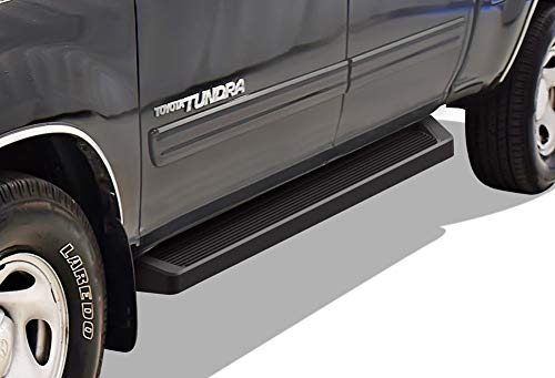 APS iBoard (Black Powder Coated Running Board Style) Running Boards Nerf Bars Side Steps Step Rails Compatible with 2004-2006 Toyota Tundra Double Cab Pickup 4-Door & 2001-2007 Toyota Sequoia ()