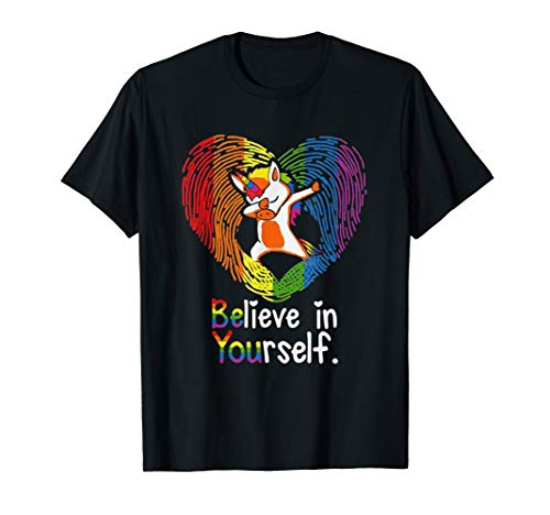 (Unicorn T Shirt Believe in Yourself Lovers Autism)