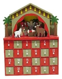 Wooden Nativity Advent Calendar Premier Decorations Ltd 7218