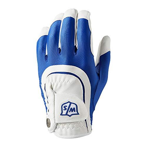 Wilson Staff Fit All Golf Glove, Blue/White
