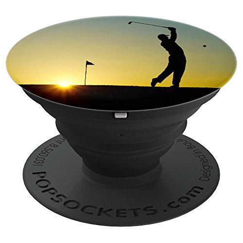 Sports Golfing Athlete Game Ball Golf Background Design Art - PopSockets Grip and Stand for Phones and ()