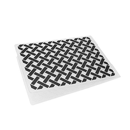 Baba Weave Pattern Designs Plastic Embossing Folders Template DIY Scrapbooking Album Paper Cards Craft Decor (Weave Album)