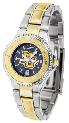 - SunTime Marquette Golden Eagles Competitor AnoChrome Ladies Watch with Two-Tone Band