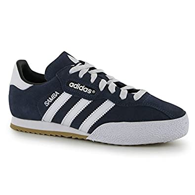 508ef52f37106 adidas Kids Samba Suede Junior Indoor Football Trainers Sports Shoes  Footwear Blue/White UK 4 (36.7): Amazon.co.uk: Shoes & Bags